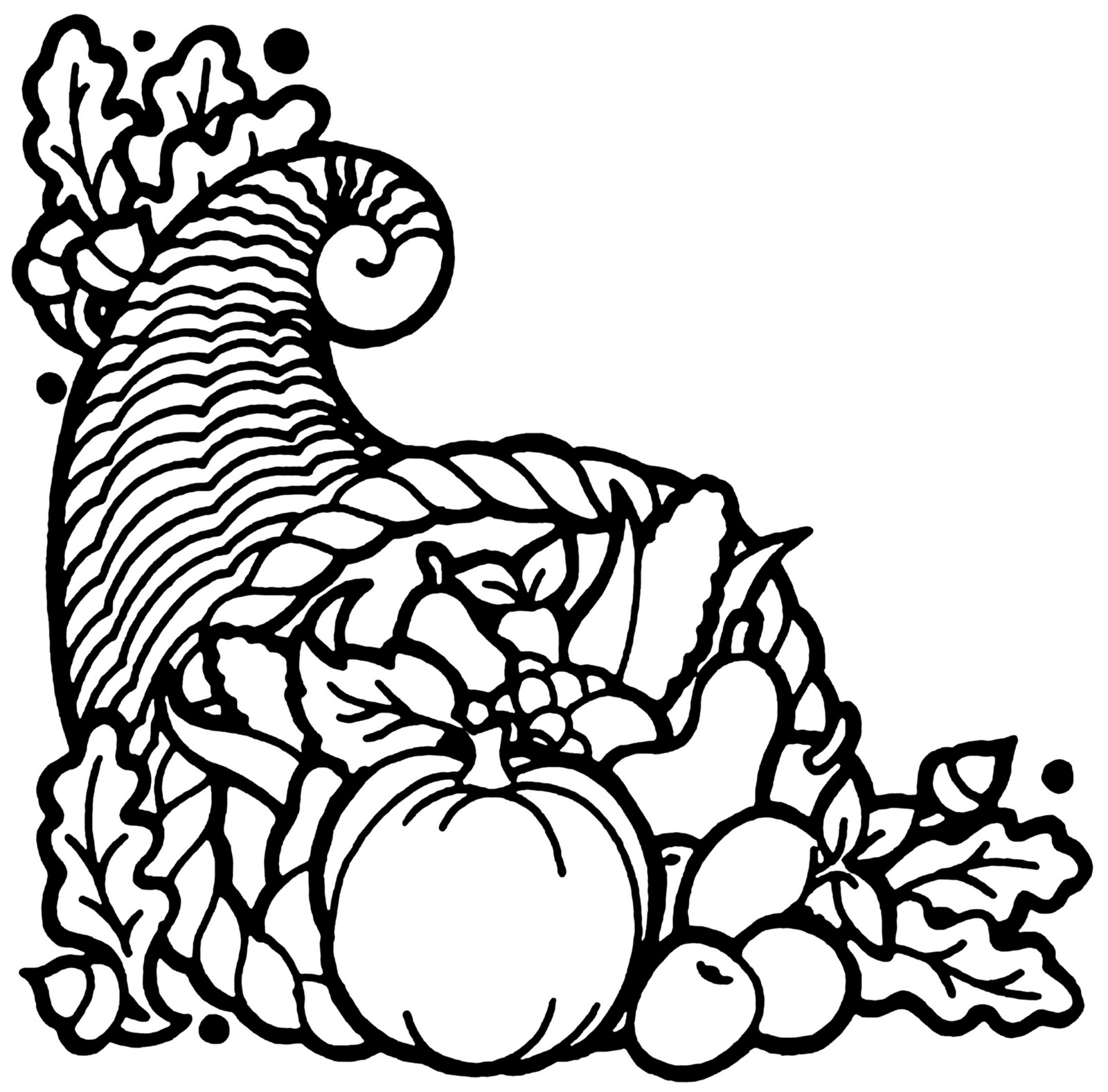1600x1575 horn of plenty coloring page horn of plenty coloring