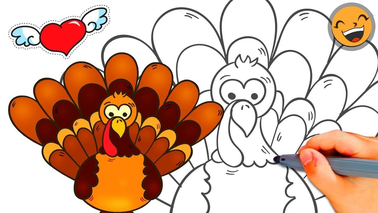 Thanksgiving Turkey Drawing   Free download on ClipArtMag