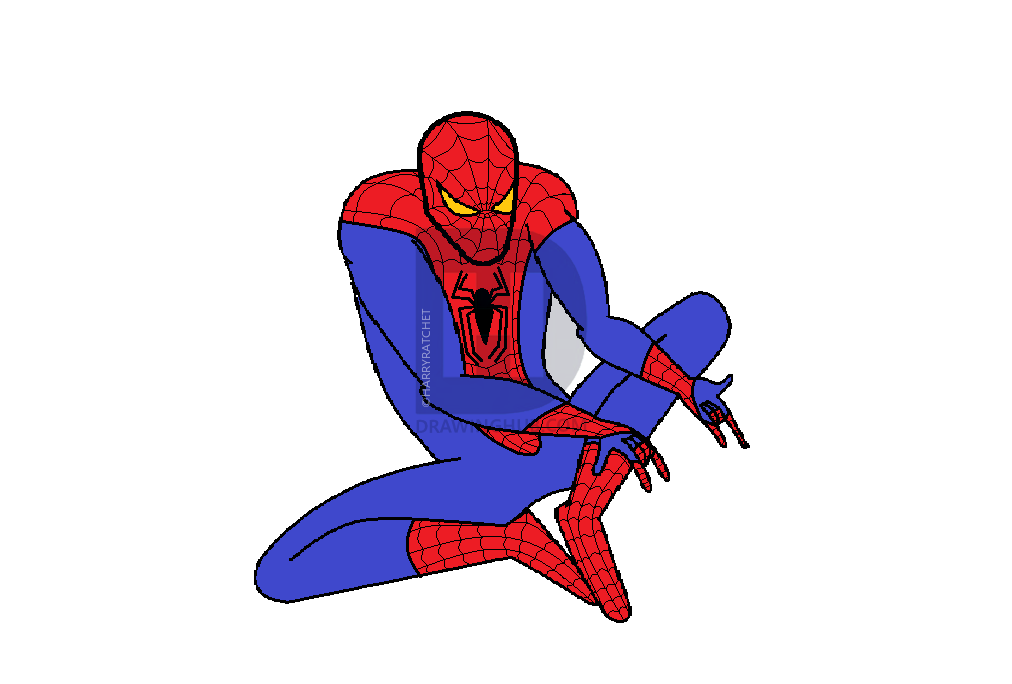 1012x684 How To Draw The Amazing Spiderman, Step