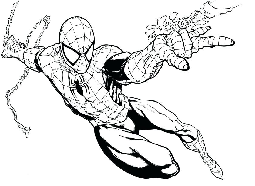 841x613 Avengers Coloring Pages Amazing Spider Man Black Spiderman Free