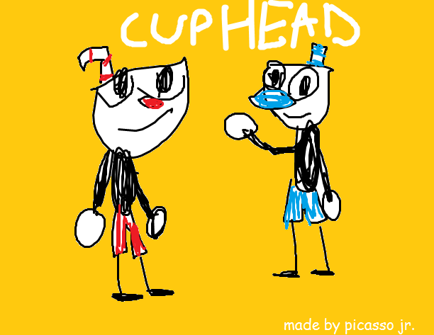 612x473 Best Cuphead Drawing Ever Made Cuphead