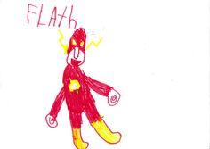 The Flash Running Drawing