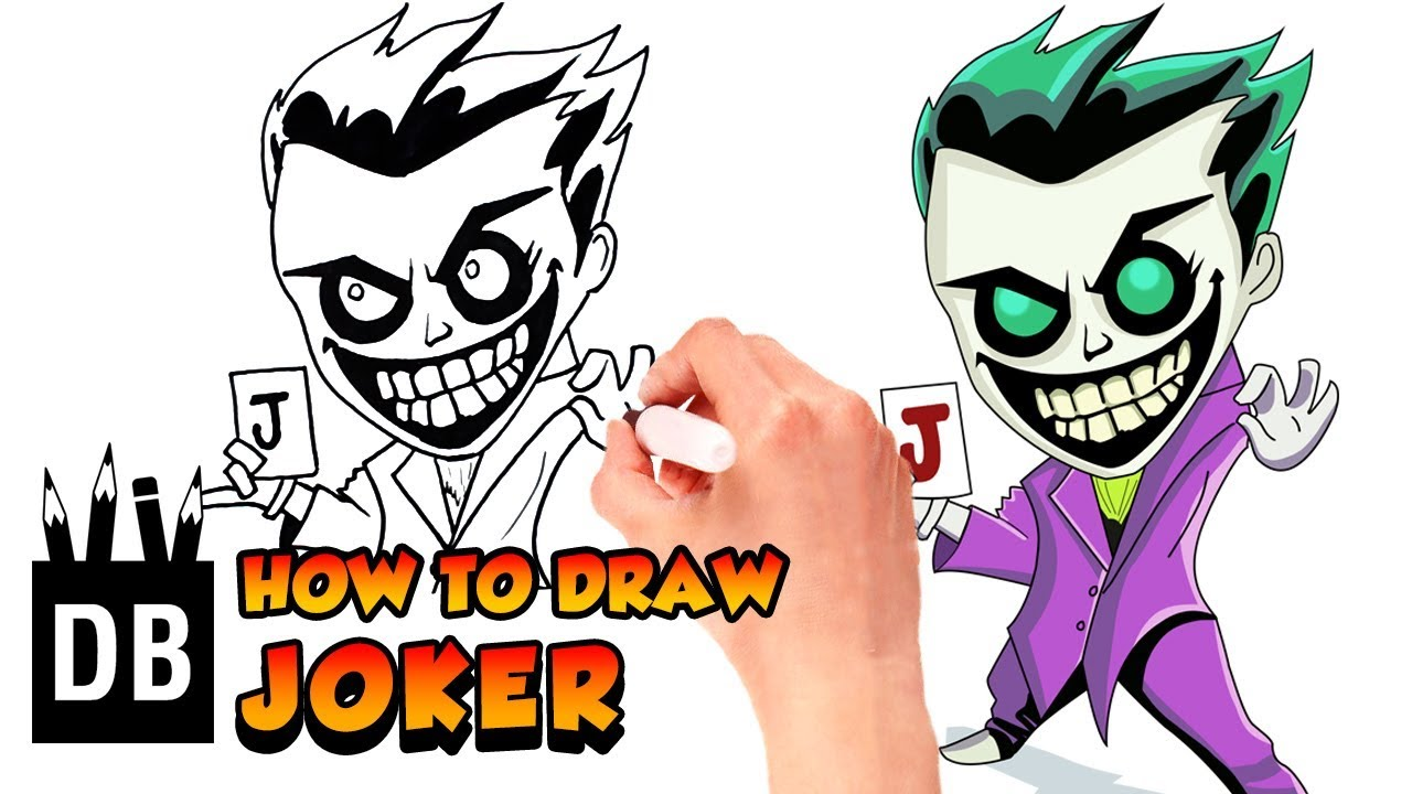 1280x720 How To Draw Joker Dc Comics Drawing For Kids Drawing Box