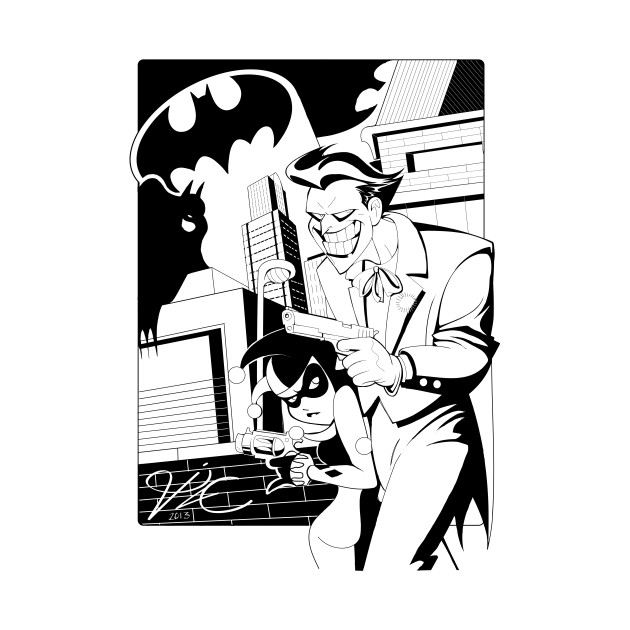 630x630 Joker And Harley In Bruce Timm Style!