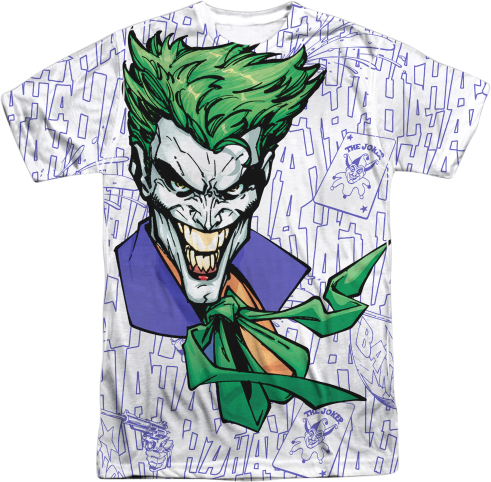 982x964 The Joker Laughing Dc Comics T Shirt