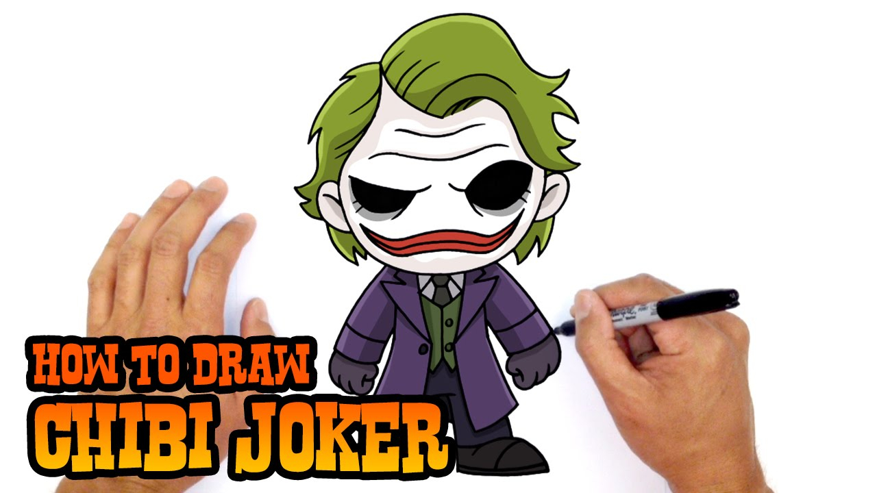1280x720 Cartoon Joker Drawing And How To Draw Joker Dc Comics
