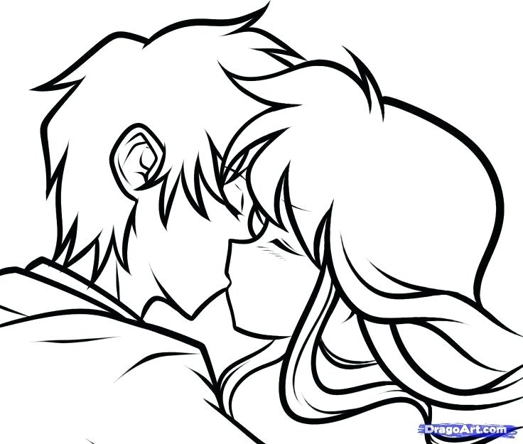 736x625 Easy Drawings Of People Kissing How To Draw Characters Step
