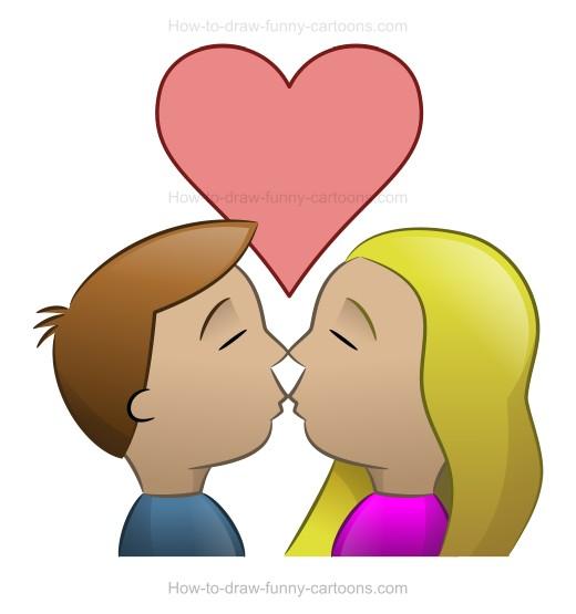 520x555 How To Draw A Kiss Cartoon Image