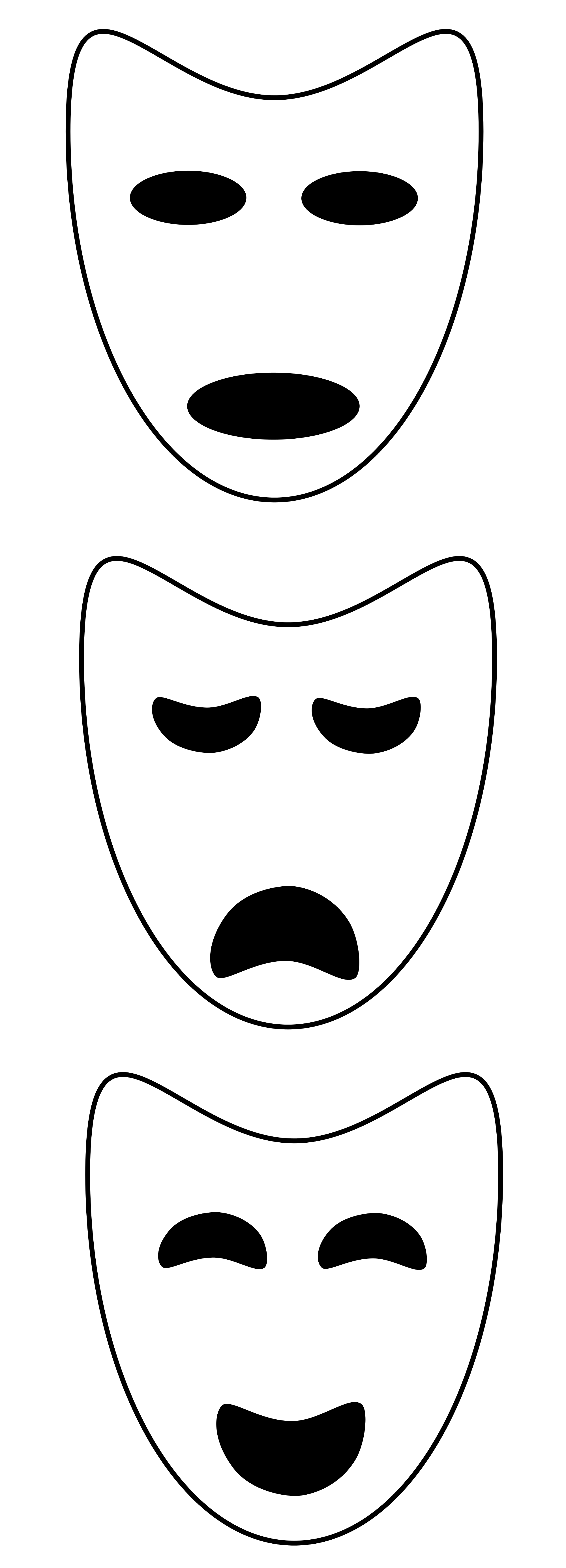 Theater Mask Drawing