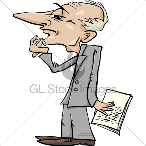 500x500 Thinking Man Cartoon Illustration Gl Stock Images