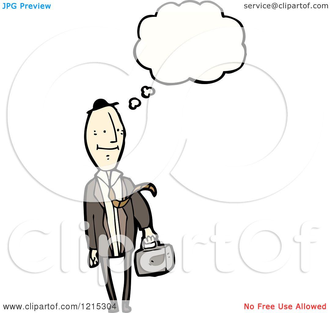 1080x1024 Cartoon Of A Business Man Thinking