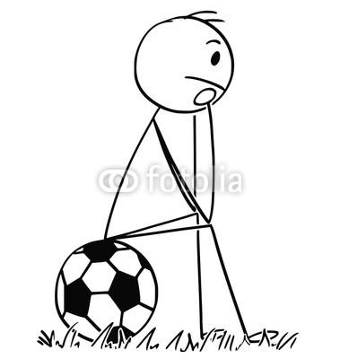 379x400 Cartoon Stick Man Drawing Conceptual Illustration Of Football