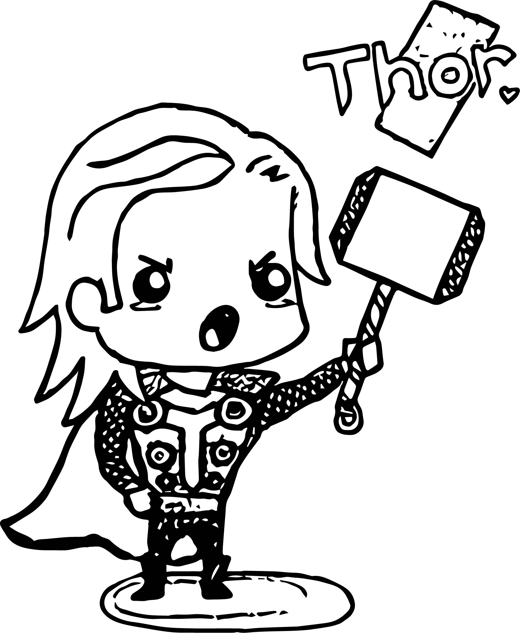 Thor Avengers Drawing | Free download on ClipArtMag