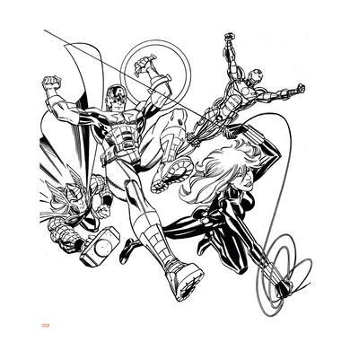 400x400 Avengers Assemble Inks Featuring Iron Man, Captain America, Thor