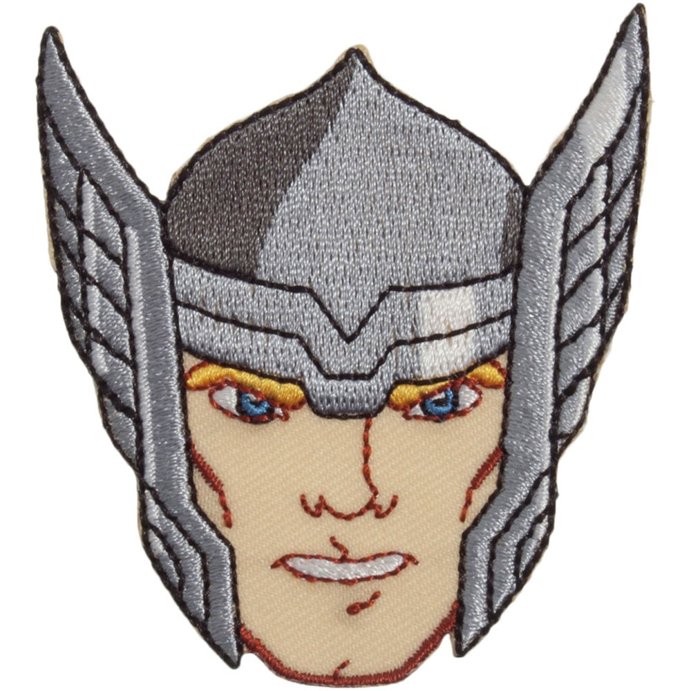 1000x1000 The Avengers Thor Face Embroidered Motif Sew Essential