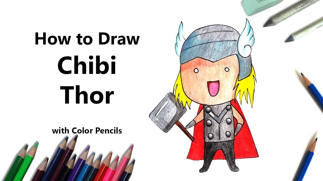 1280x720 How To Draw Chibi Thor Step