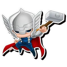 236x236 Best Thor Chibi Images Chibi, Superhero, Cartoons