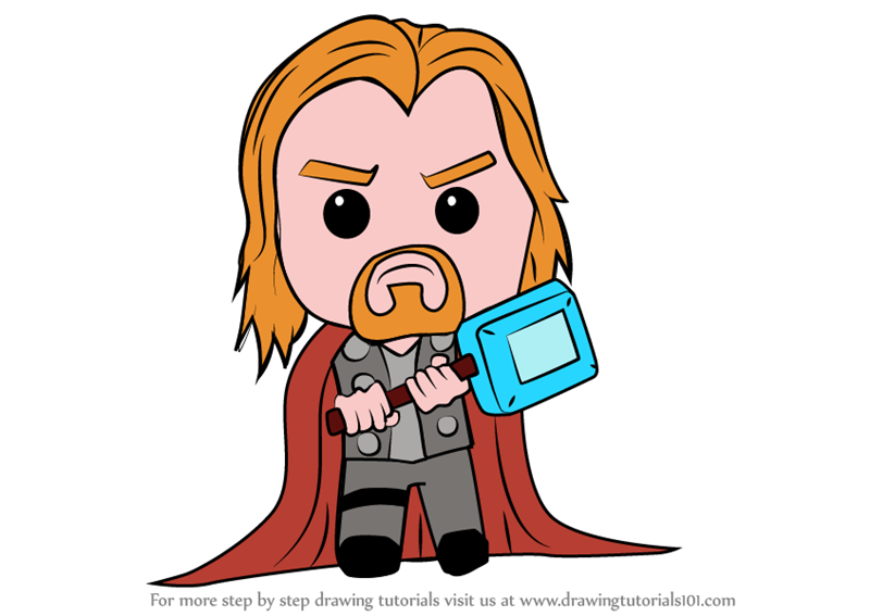 800x567 Learn How To Draw Kawaii Thor