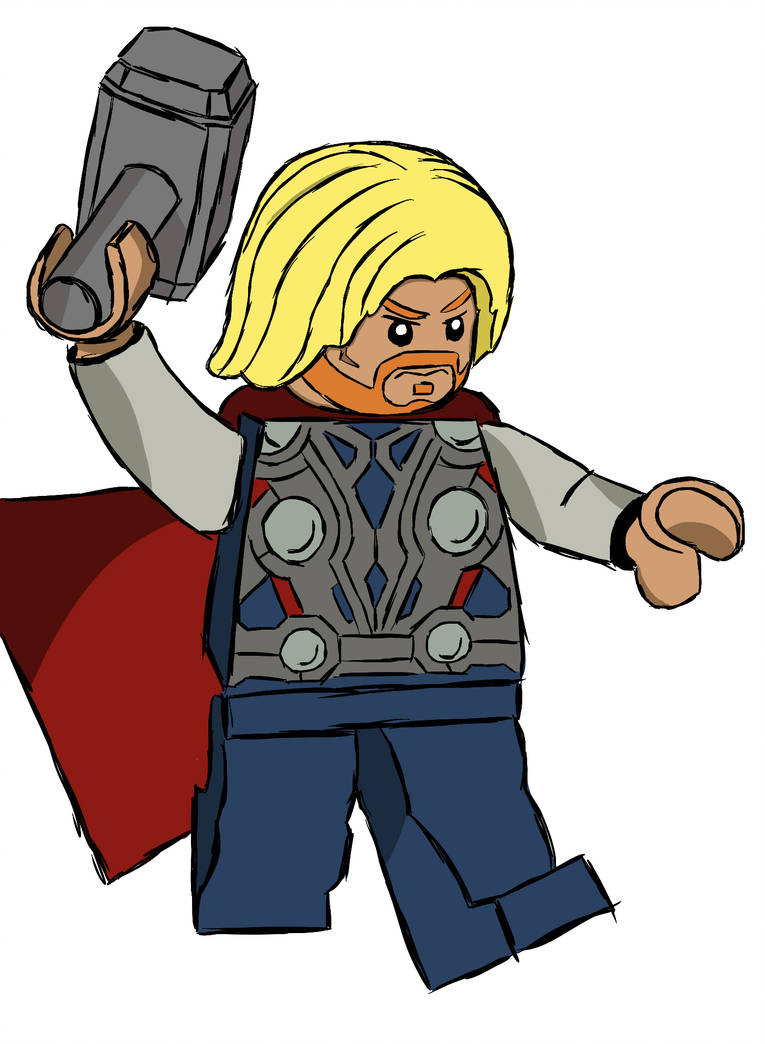 765x1044 Lego Thor Digital Drawing