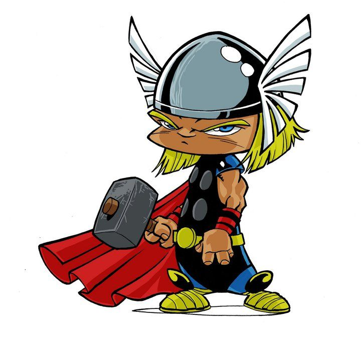 720x678 Marvel Avengers Thor, Dibujos