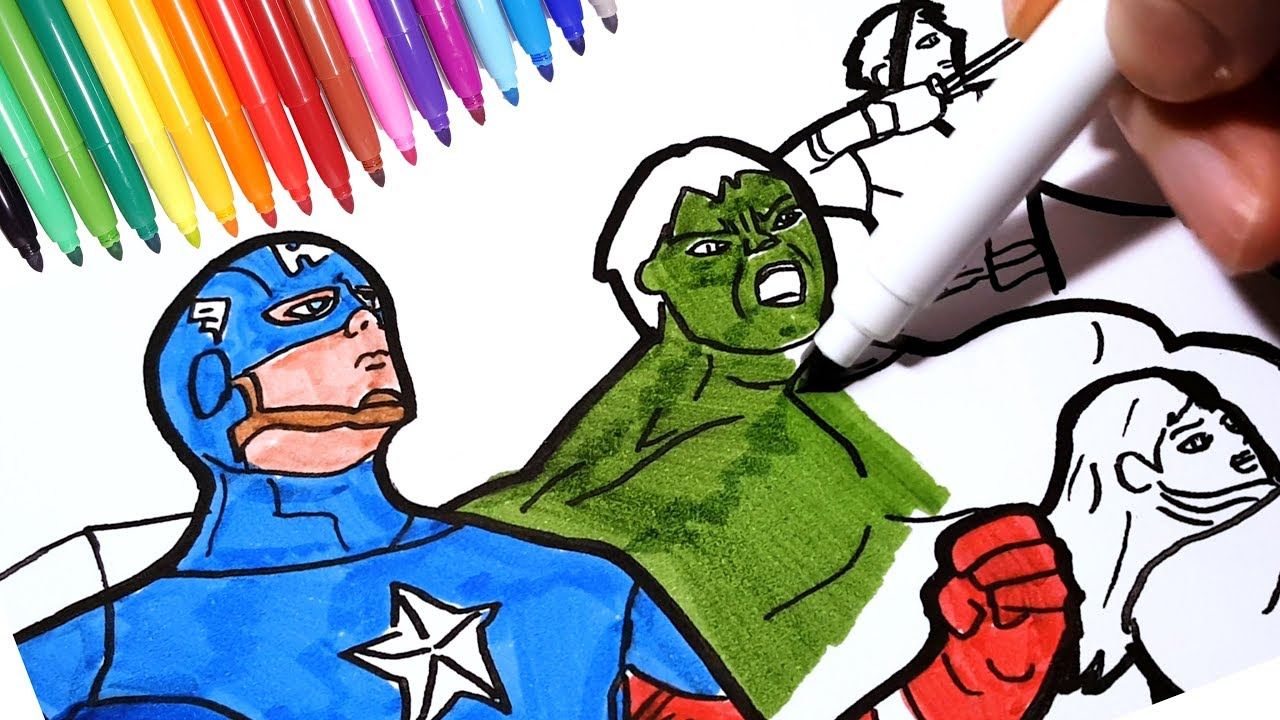 1280x720 The Avengers Coloring Pages How To Draw Marvel Superheroes Iron