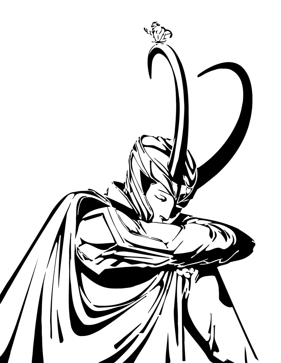 900x1161 Thor, Drawing, White, Transparent Png Image Clipart Free Download