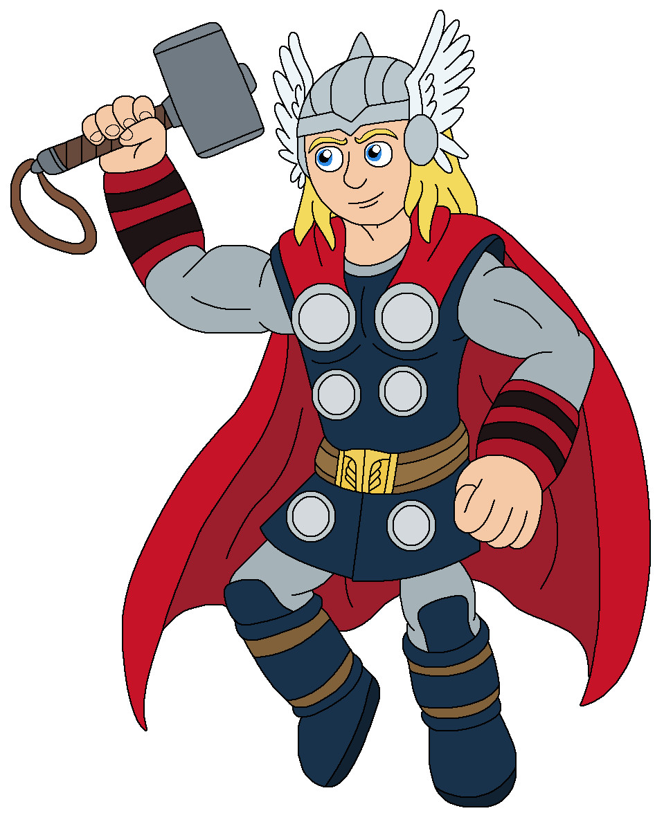 959x1188 Thor Cartoon Drawing