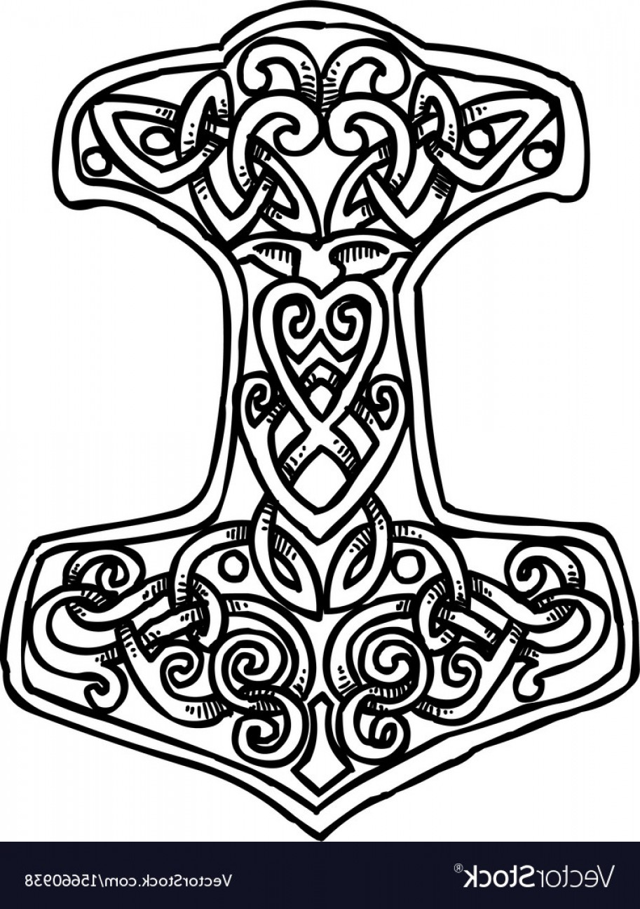 913x1296 Cartoon Image Of Thor Hammer Icon Vector Soidergi