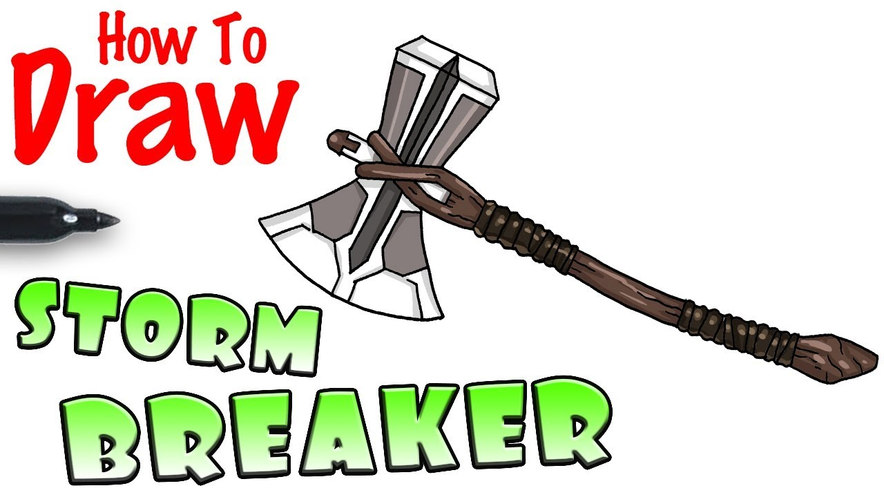 1280x720 How To Draw Thor's Stormbreaker