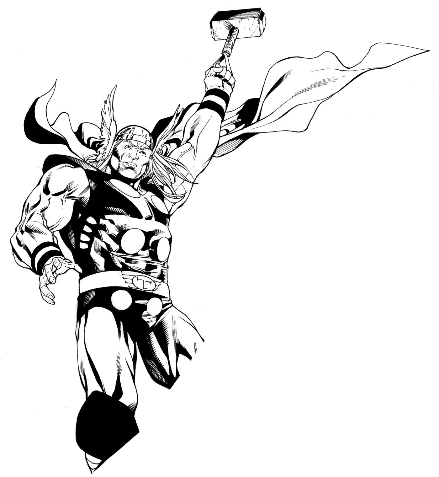 1400x1520 Thor Drawing Ink For Free Download