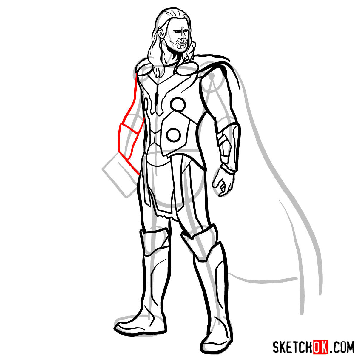 1200x1200 How To Draw Thor Odinson