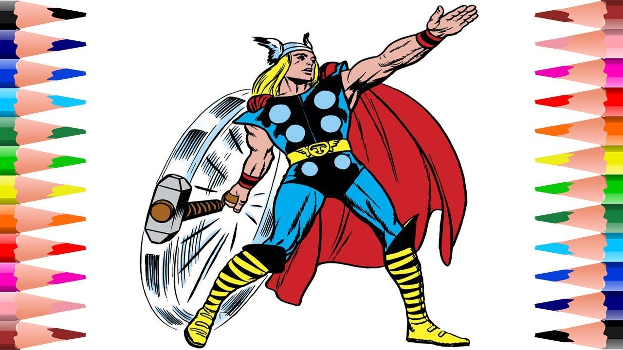 1280x720 Painting Thor The Avengers Coloring Pages For Kids