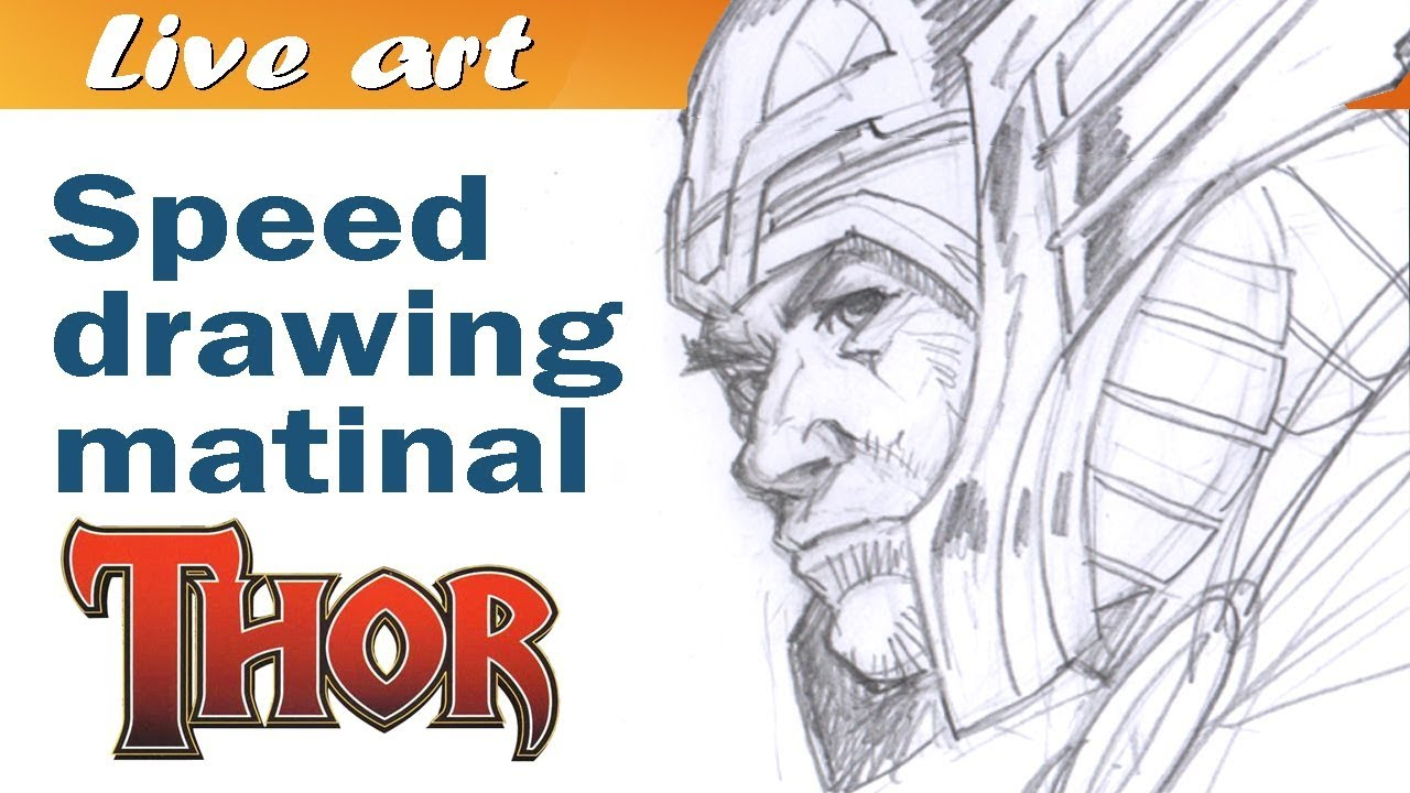 1280x720 Speed Drawing Thor
