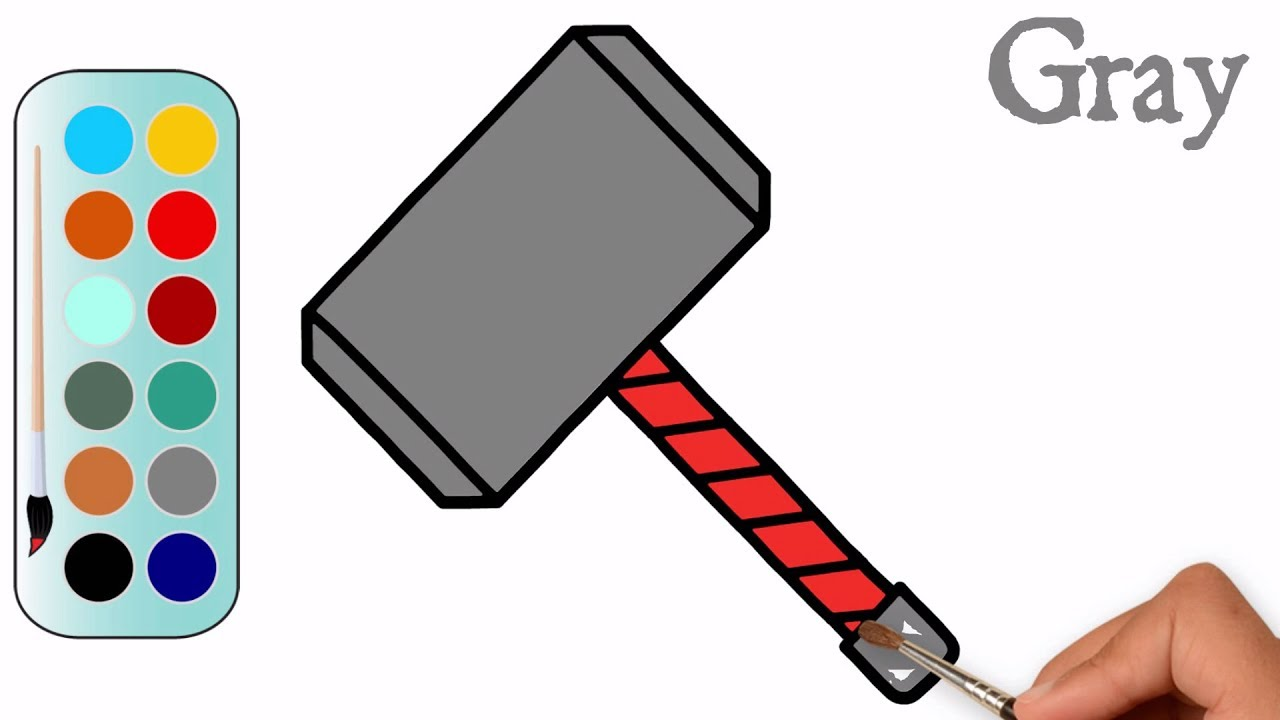 1280x720 how to draw a thor hammer thor hammer coloring
