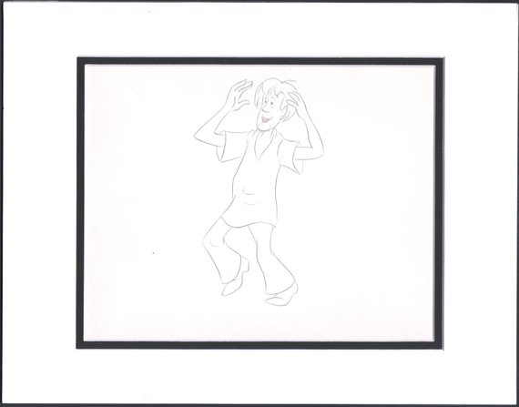 570x447 scooby doo shaggy production animation cell drawing etsy
