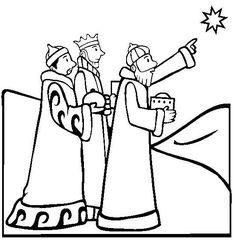 Three Wise Men Drawing
