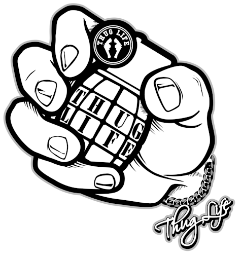 477x509 Hd Thug Life Fist Png Image Background