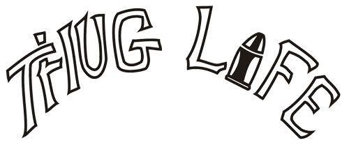 500x221 Thug Life Tattoo Remake Silhouette Thug Life Tattoo, Life
