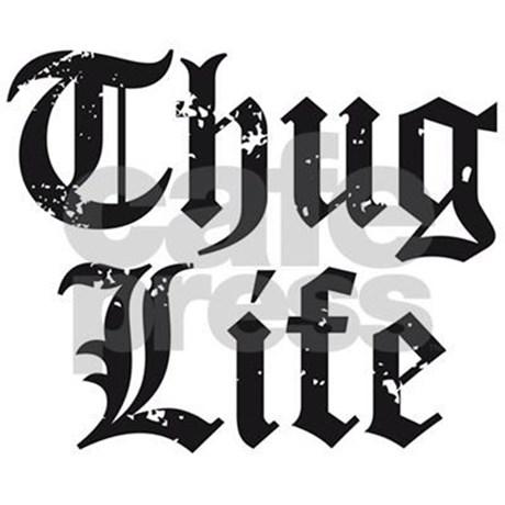 460x460 Thug Life Tile Coaster