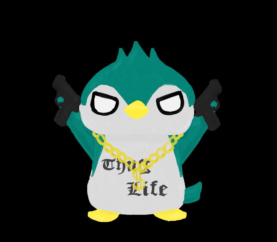 956x836 Thug Life Penguin