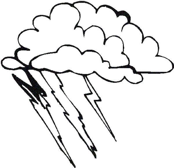 Thunder And Lightning Drawing