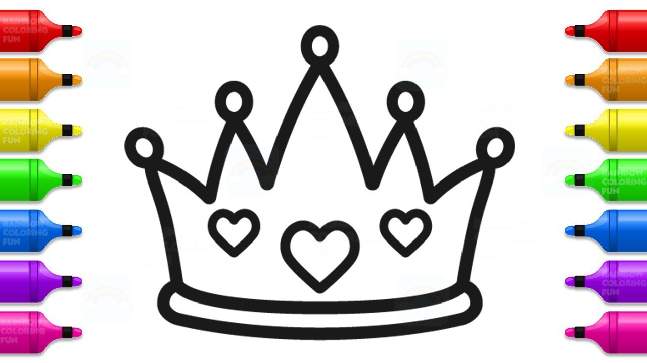 1280x720 How To Draw Baby Princess Crown Cute Coloring Book For Kids