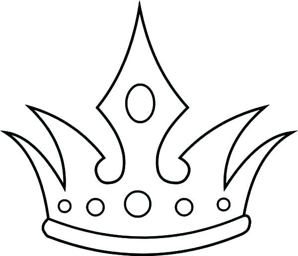 600x515 Princess Crown Coloring