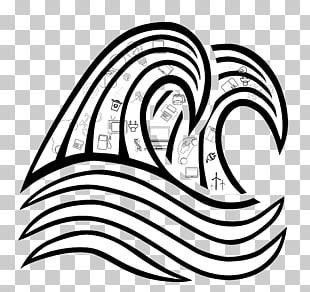 Tidal Wave Drawing
