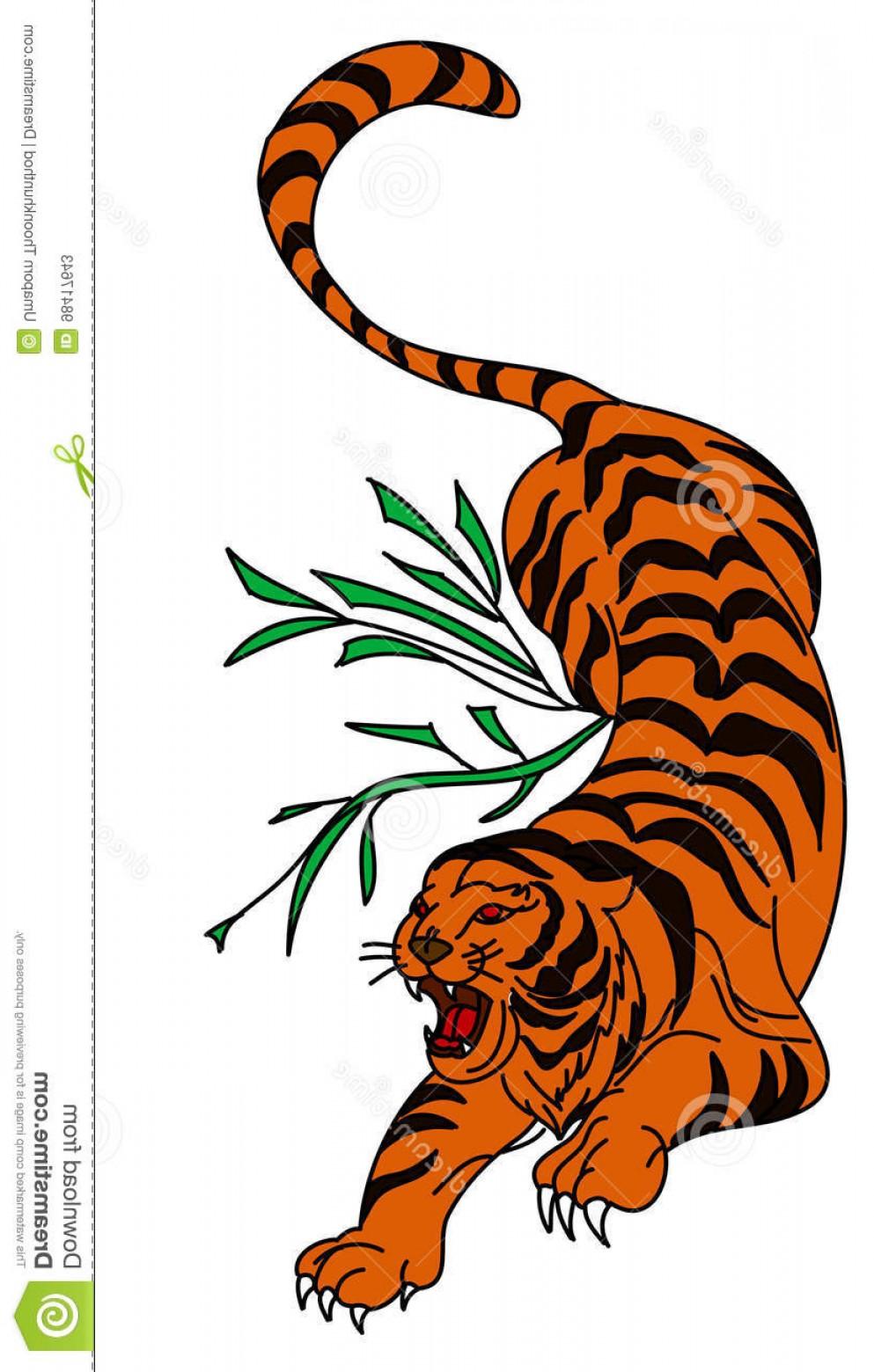993x1560 Stock Illustration Tiger Vector Tattoo Design White Background