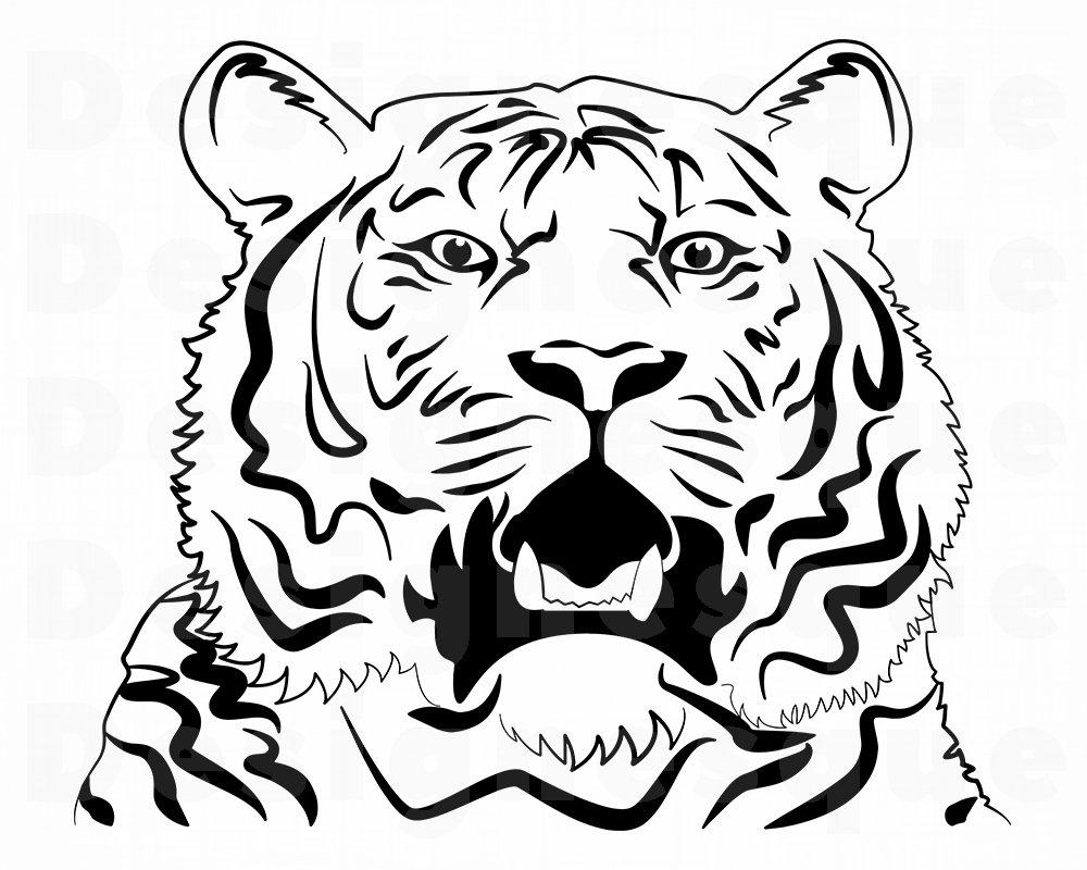 1000x800 Tiger Outline