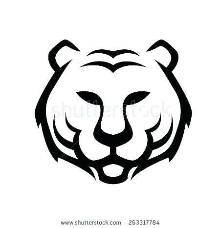 450x467 tiger face drawing tiger face tiger face drawing pictures