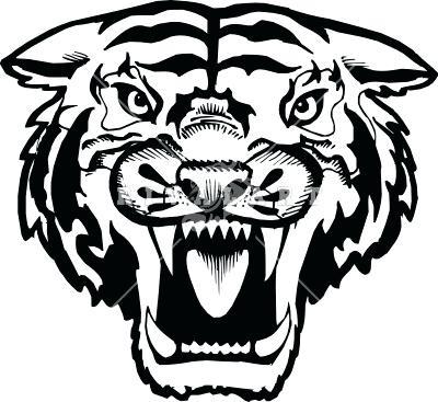 400x367 tiger face outline line drawing of tiger face tiger face outline