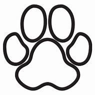 190x190 Fresh Tiger Paw Print Outline Charte