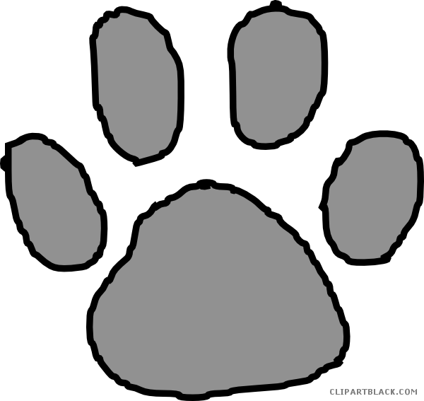 600x567 Tiger Paw Clip Art Freeuse Stock Black And White Huge Freebie